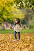 Girl at the autumn park — Foto de Stock
