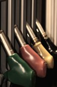 Colorful Fuel pumps — Stock Photo