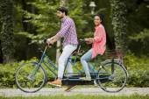 Para, jazda na rowerze — Zdjęcie stockowe