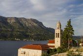 Church and Monastery Sveti Nikola in Korcula, Croatia — Stock Photo