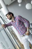 Young man in the office — Stock Photo