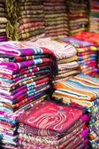 Fabrics on the market in Fes, Morocco — Stock Photo