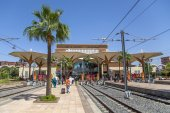 Train station in Marrakesh, Morocco — Stock Photo