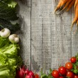 Fresh vegetables on the wooden table — Stock Photo #59138985