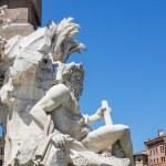 Fontana dei quattro fiumi na placu piazza navona, Rzym — Zdjęcie stockowe #61903699