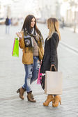 Young women on the street — Stock Photo