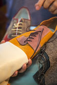 Produkcji obuwia — Zdjęcie stockowe