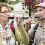 Senior couple tasting wine — Stock Photo #72208891