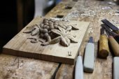 Carving workshop — Stock Photo