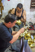 Handcraftsman a Fes, Marocco — Foto Stock