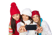 Friends making selfie. — Stockfoto