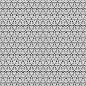Black small and big stars on gray pattern — Stockvector