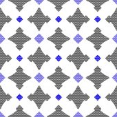 Dot textured pattern with gay and blue — Stockvektor