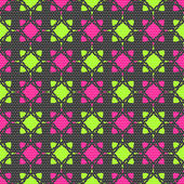 Dot textured pattern with pink and bright green — Stock Vector