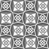 Geometrical Arabian ornament with white and grays — Stockvector