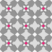 Geometrical ornament with shades of gray and pink squares — Stockvector