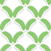 Green simple shapes on white pattern — Stock Vector