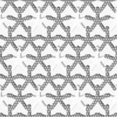 White 3d shapes on textured white and gray pattern — Stock Vector