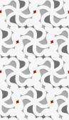 White 3d wavy with red and gray pattern — Stockvektor
