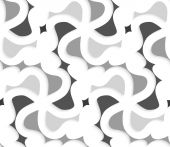 White 3d wavy with shades of gray pattern — Stock Vector