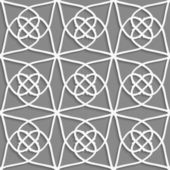 White geometrical ornament on gray — Stockvector