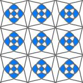 White geometrical ornament with gray and blue — Stockvektor
