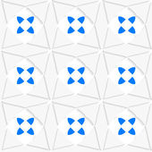 White geometrical ornament with triangles and blue — Stockvector