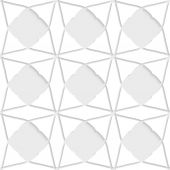 White geometrical ornament with triangles — Stockvector