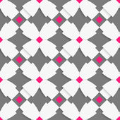 White geometrical ornament with white crosses and pink squares o — Stockvector
