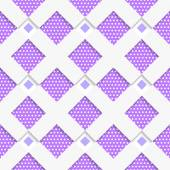 White geometrical ornament with white net and dots purple textur — Stockvector