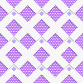 White geometrical ornament with white net and dots purple textur — Stockvektor
