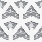White shapes with big and small dots on gray pattern — Stockvektor