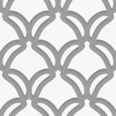 White shield shapes on gray pattern — Stock Vector