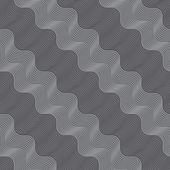Repeating ornament diagonal light and dark gray wavy — Vettoriale Stock