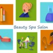 Постер, плакат: Beauty spa salon squares
