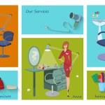 Постер, плакат: Beauty spa salon service page