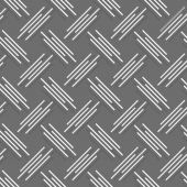 Monochrome pattern with white and gray diagonal uneven stripes w — Stock Vector