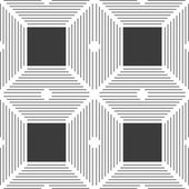 Monochrome pattern with thin gray intersecting lines and black s — Stock Vector