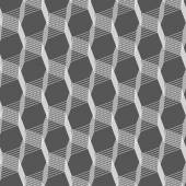 Monochrome pattern with light gray intersecting thin lines on gr — Stock Vector