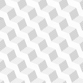 Monochrome pattern with gray striped diagonal braids with shades — Stock Vector
