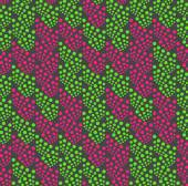 Colored geometrical pattern with green and pink dotted texture — Stock Vector