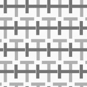 Monochrome pattern with black and gray intersecting t shapes — Stock Vector