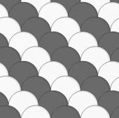 3D white and gray overlapping half circles — Stock Vector