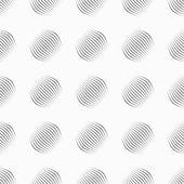Gray ornament diagonal bulging small shapes — Stock Vector