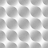 Gray ornament diagonal bulging shapes — Stock Vector