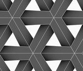 3D colored gray triangular grid — 图库矢量图片