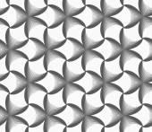 Monochrome gradually striped black pointy flowers — Stock Vector