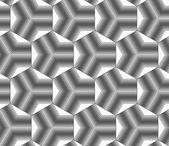 Monochrome gradually striped black tetrapods — Stock Vector