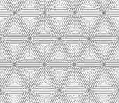 Monochrome gradually striped cubes — Stock Vector