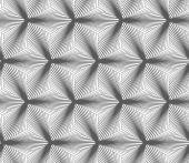 Monochrome gradually striped black three ray stars — Stock Vector